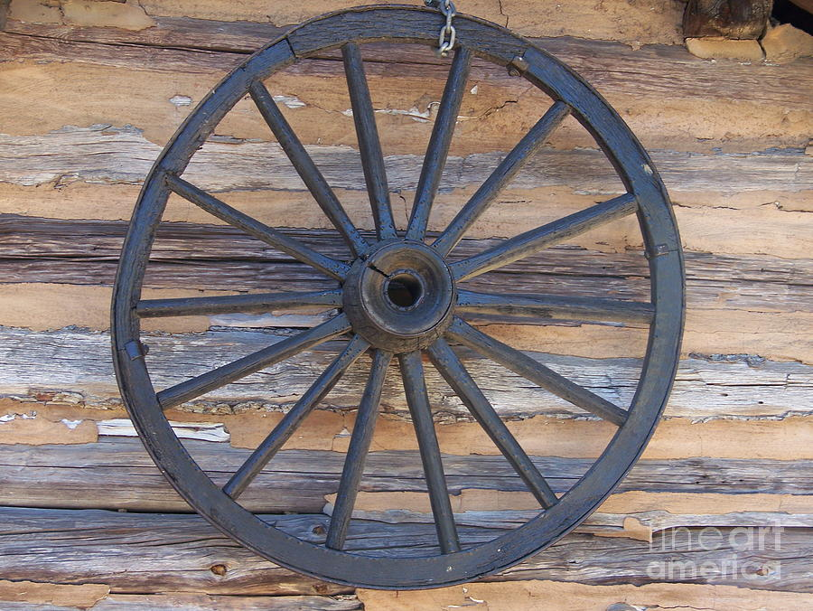 Wagon Photograph - Yates Mill Wagon Wheel by Kevin Croitz