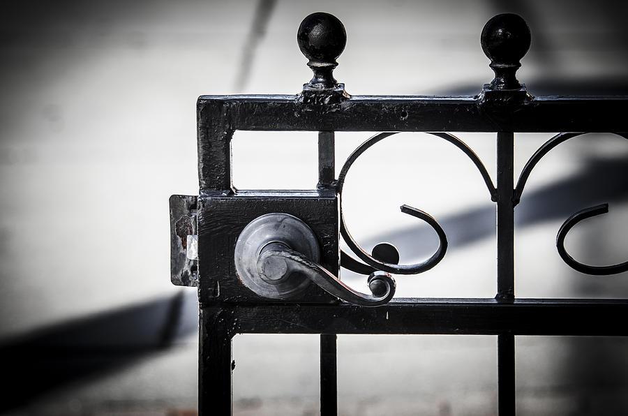 Gate Photograph - Ybor City Gate by Carolyn Marshall