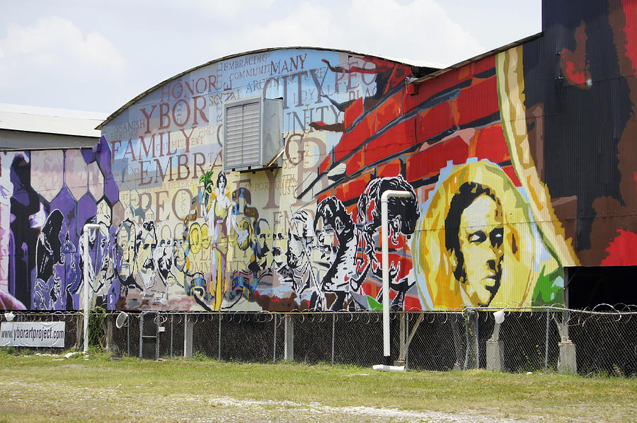 Ybor City Photograph - Ybor Mural by Laurie Perry