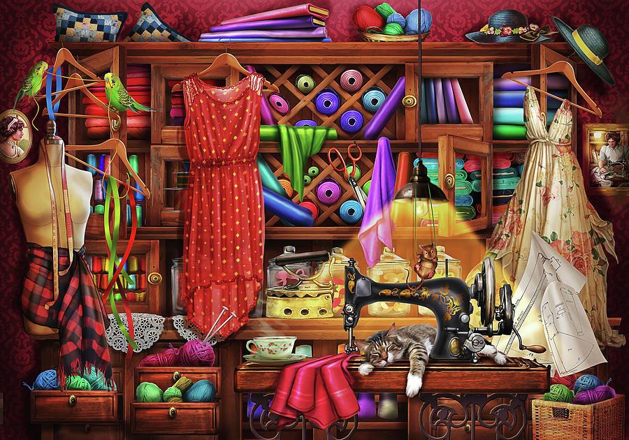 Craft Drawing - Ye Olde Craft Room by MGL Meiklejohn Graphics Licensing