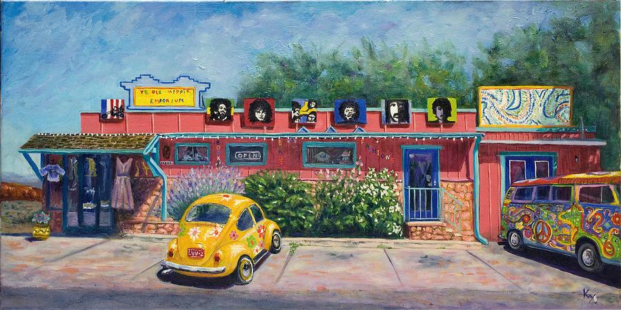 Hippie Painting - Ye Ole Hippie Emporium by Patty Kay Hall
