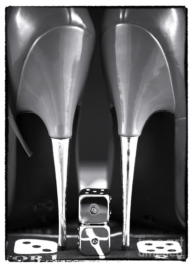 Gambling Photograph - Yeah Baby In Black And White by John Rizzuto