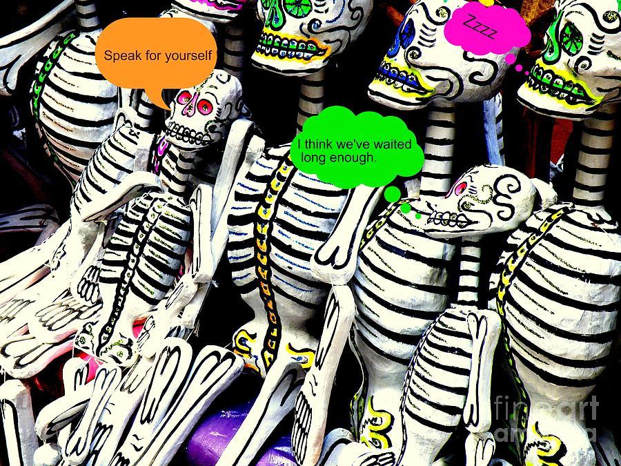 Skeletons Photograph - Year Of The Dead by Joe Jake Pratt