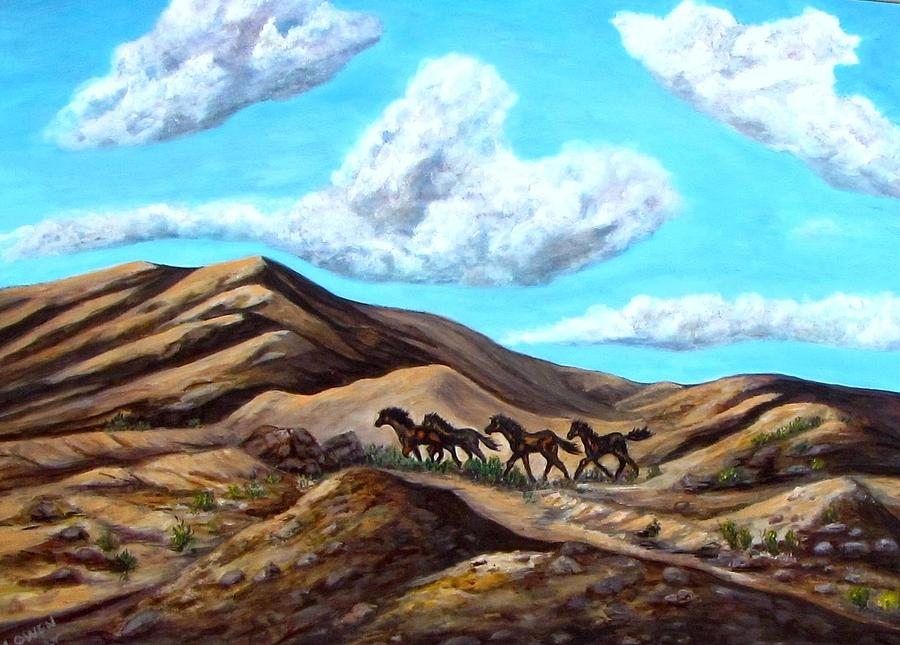 Horses Painting - Year Of The Horse by Caroline Owen-Doar