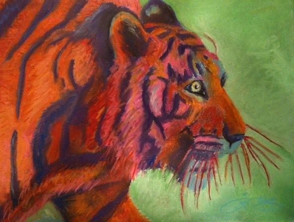 Tiger Painting - Year Of The Tiger by Crimson Pitts