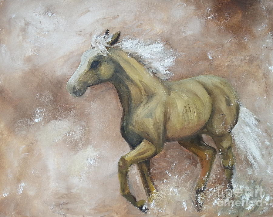 Yearling In Storm by Abbie Shores