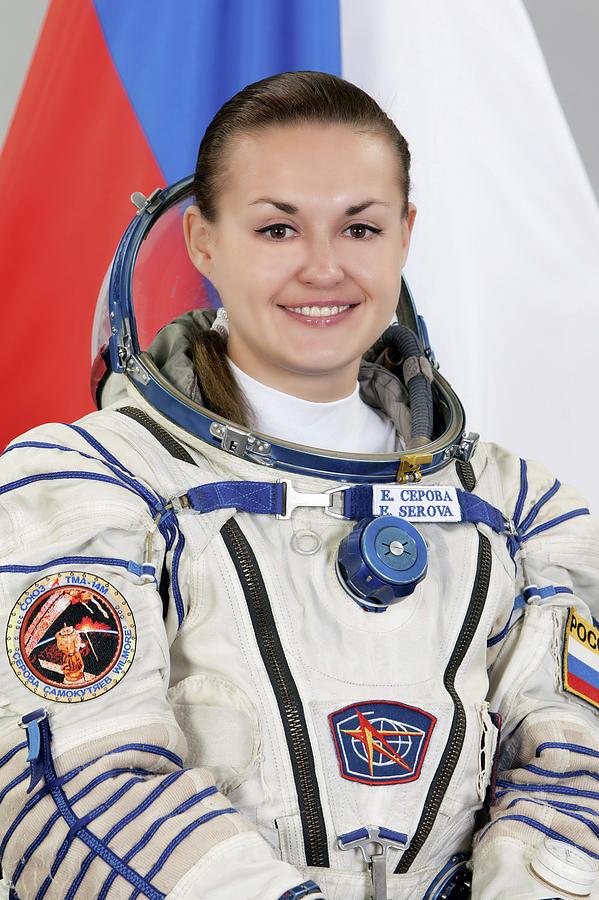 2013 Photograph - Yelena Serova by Nasa/gagarin Cosmonaut Training Center