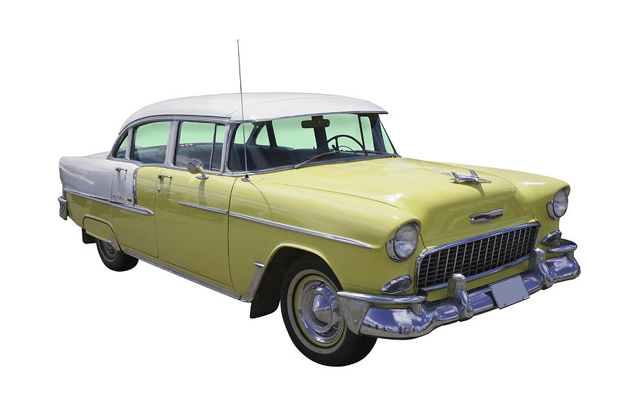 Yellow 1955 Chevrolet Bel Air Photograph By Keith Webber Jr
