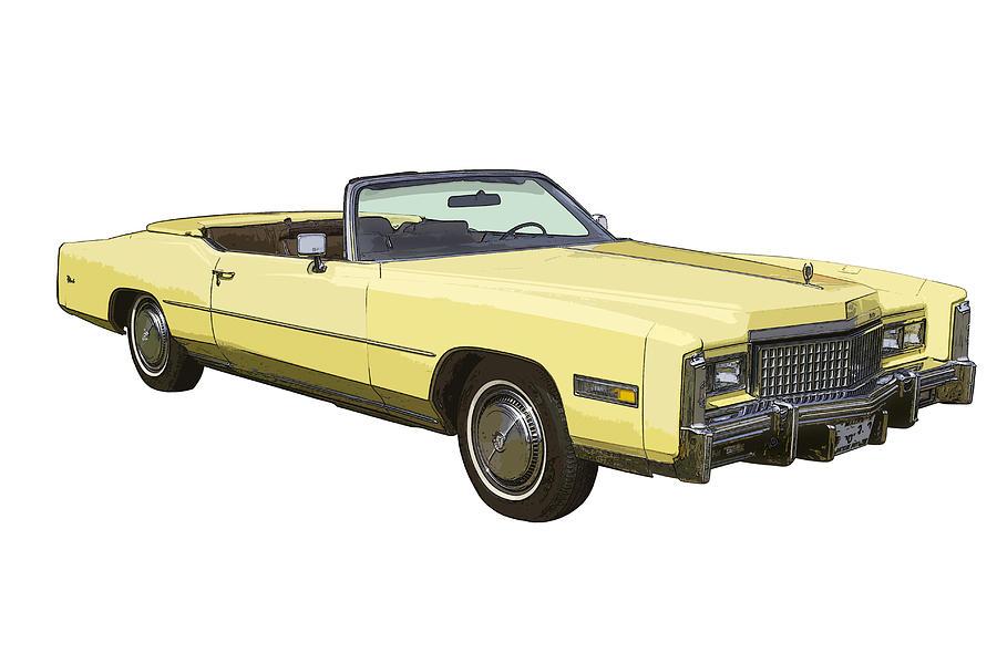 Yellow 1975 Cadillac Eldorado Convertible Photograph by Keith Webber