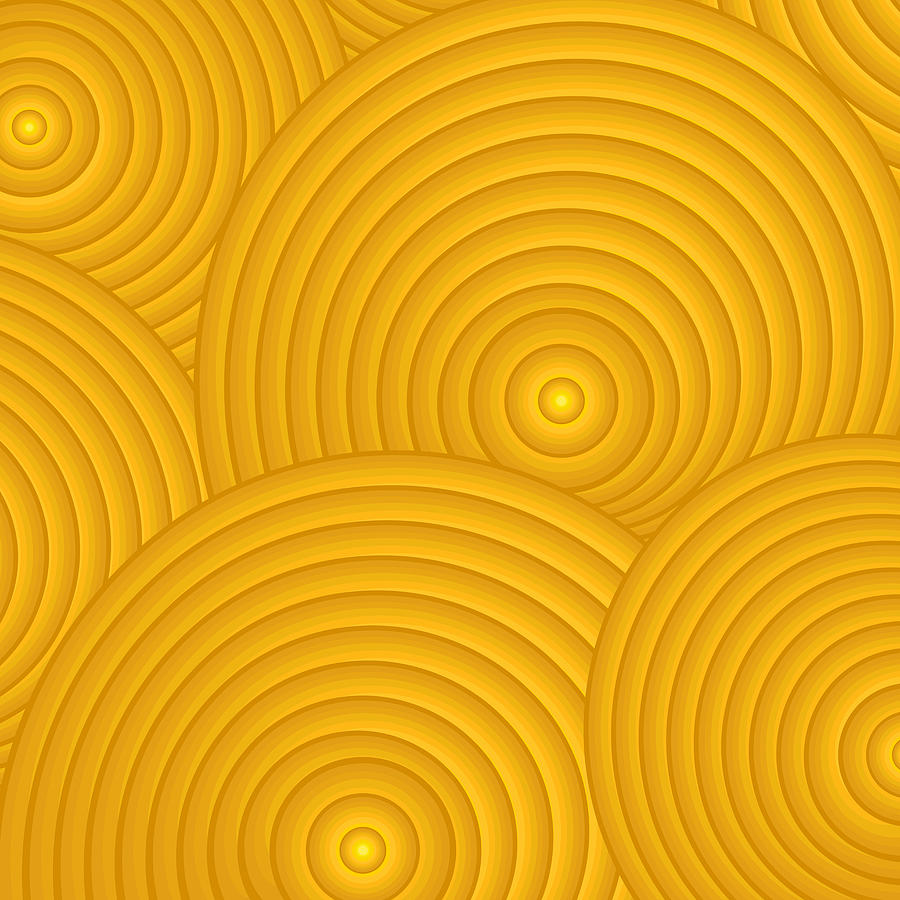 Yellow Painting - Yellow Abstract by Frank Tschakert