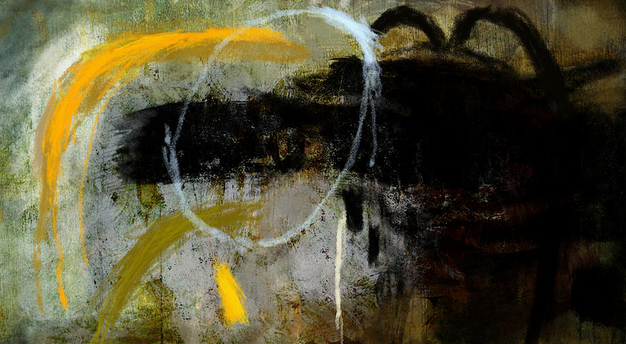 Painting Painting - Yellow And Black Forms by Jeremy Norton