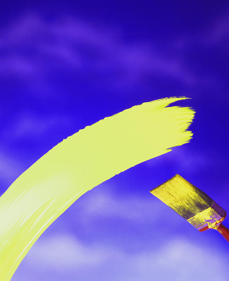 Decorative Photograph - Yellow And Blue by Steven Huszar