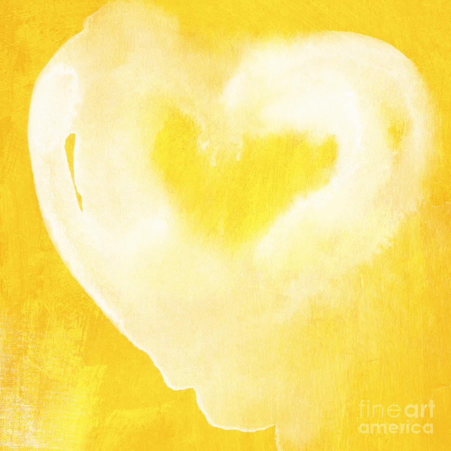 Yellow And White Love Mixed Media