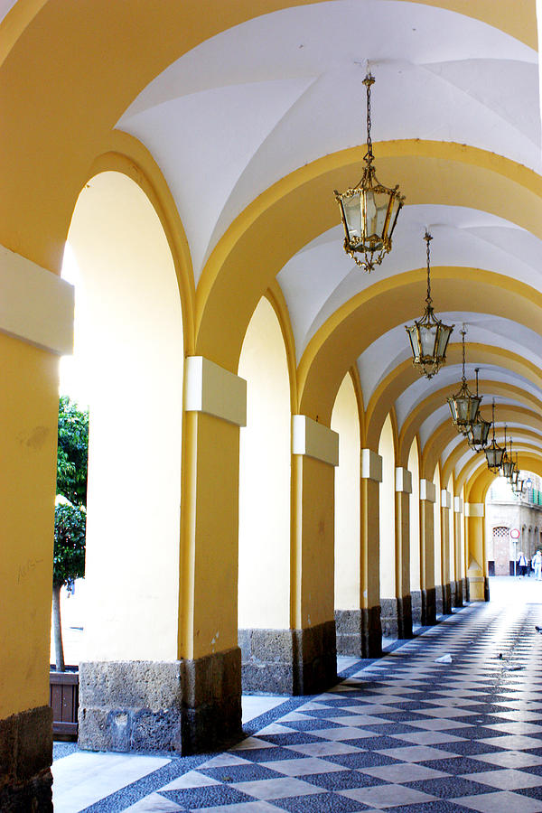 Architecture Photograph - Yellow Arches by Jamie Fedele