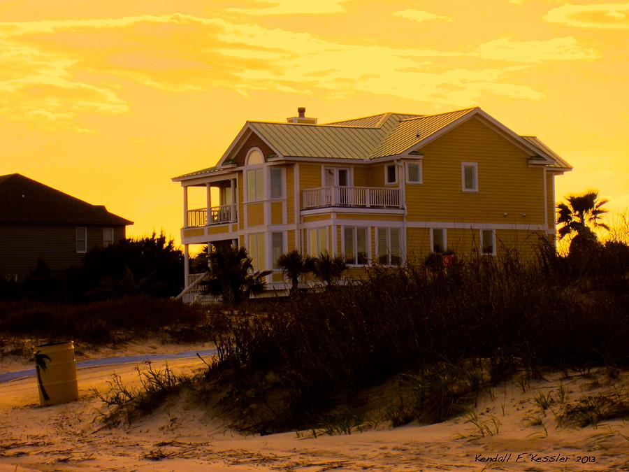 Isle Of Palms Photograph - Yellow Beauty At Isle Of Palms by Kendall Kessler