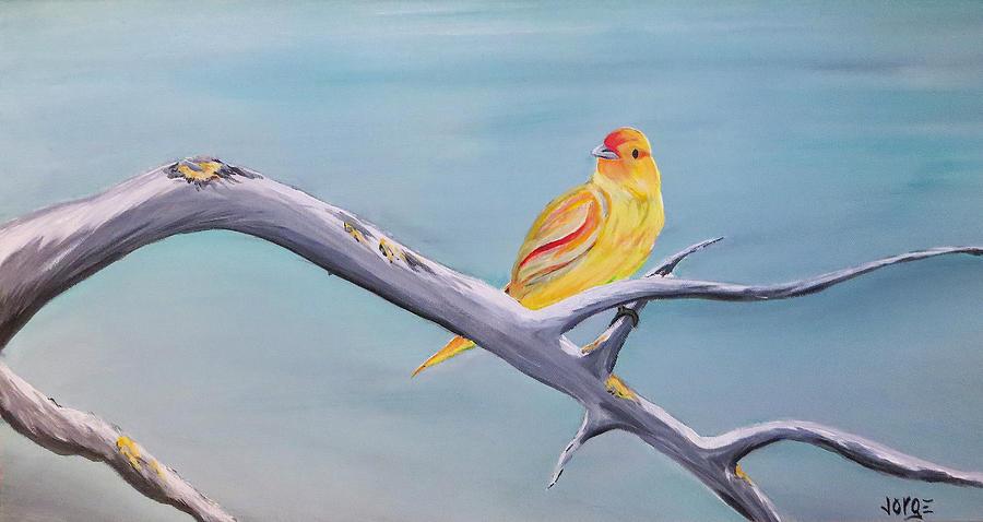 Bird Painting - Pajarito Amarillo by Jorge Carrillo