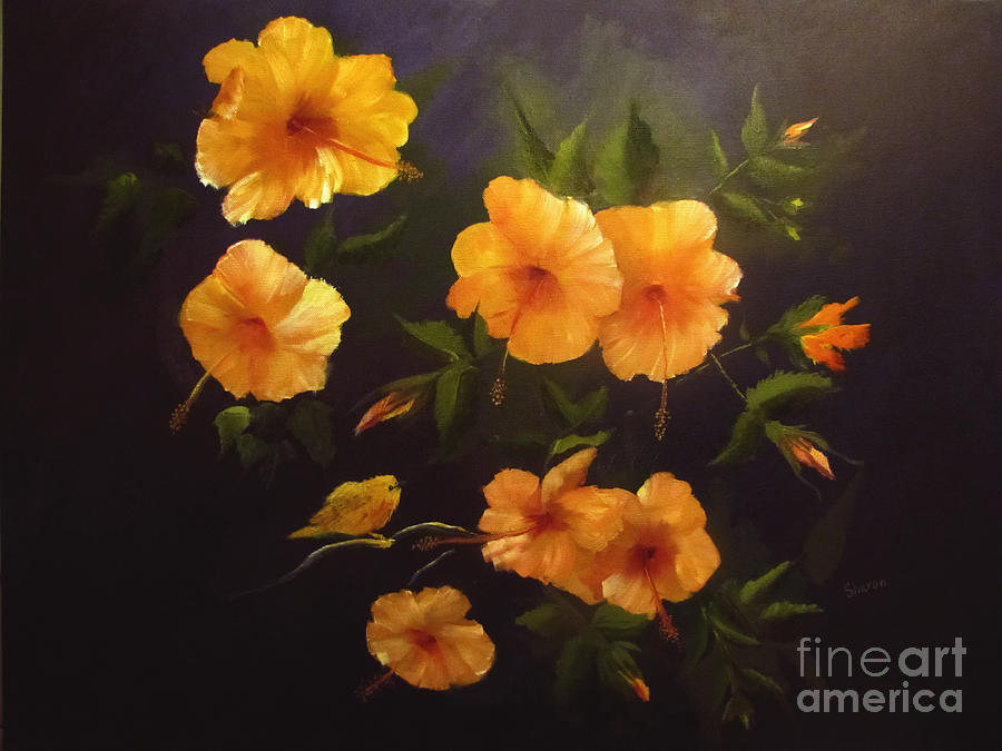 Flowers Painting - Yellow Bird by Sharon Burger
