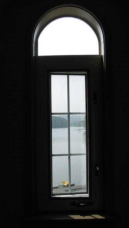 Window Photograph - Yellow Boat In The Window by Jacqueline Russell