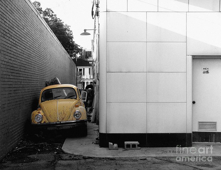Automobile Photograph - Yellow Bug by   Joe Beasley