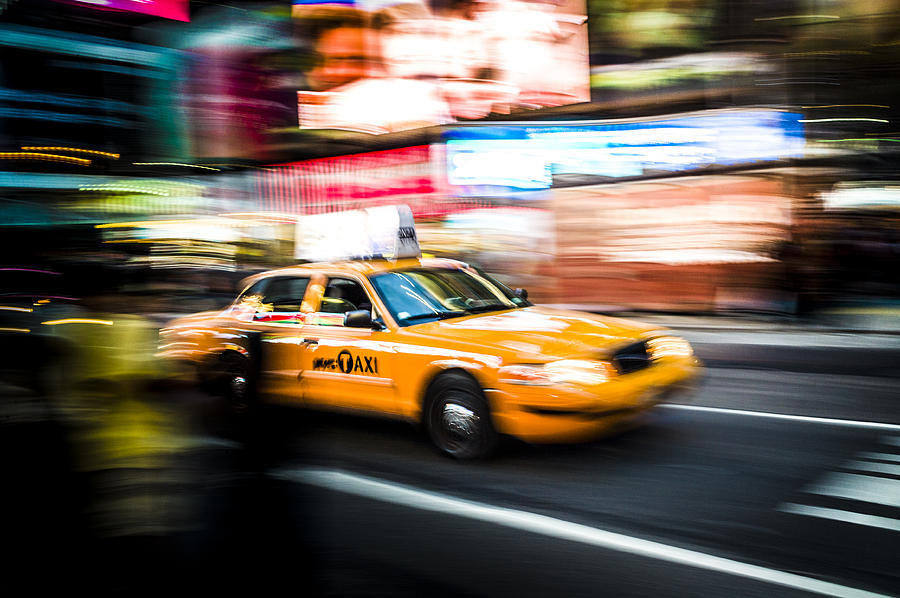 Yellow Photograph - Yellow Cab by Chris Halford