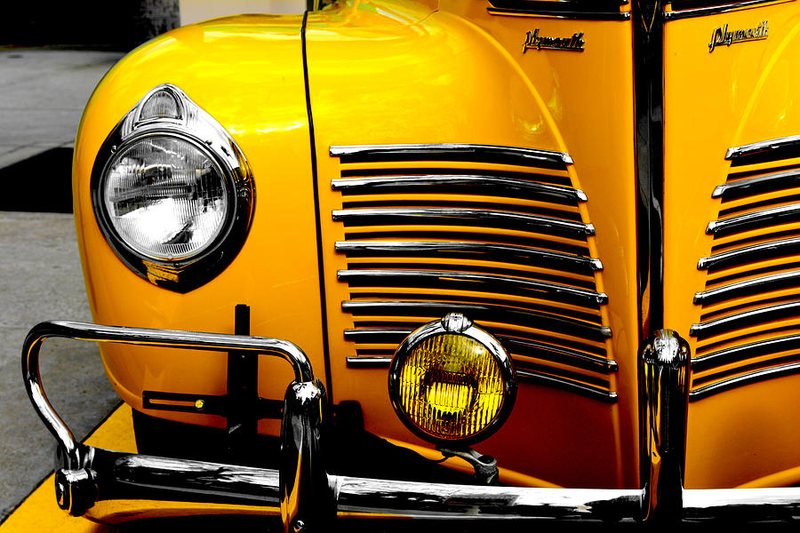 Taxi Photograph - Yellow Cab Frontal by Tim Wintjen
