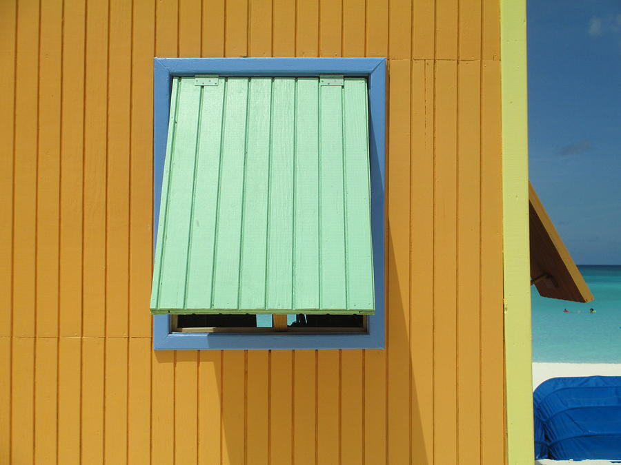Caribbean Corner Photograph - Yellow Cabin by Randall Weidner