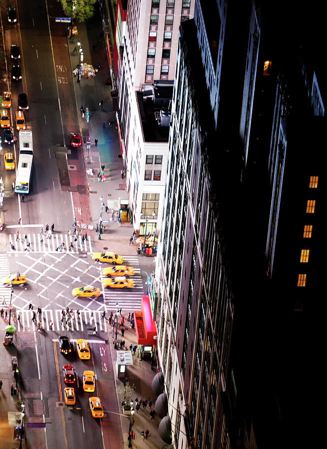 Yellow Cabs, New York City Photograph by Urbancow