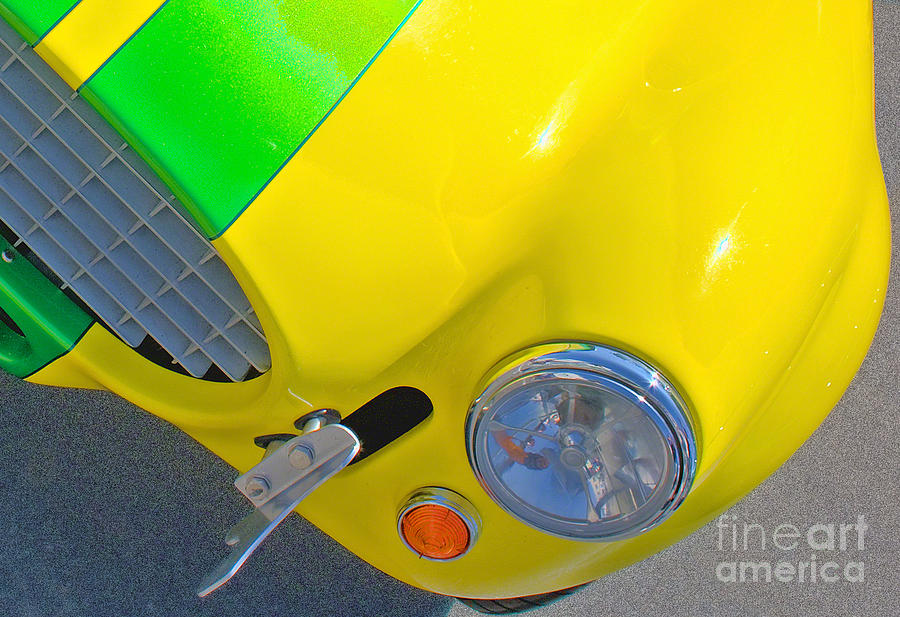 Shelby Photograph - Yellow Cobra by Hot Rod Pics