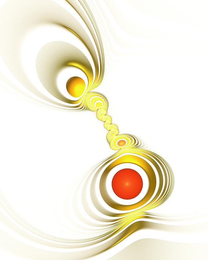 Malakhova Digital Art - Yellow Connection by Anastasiya Malakhova