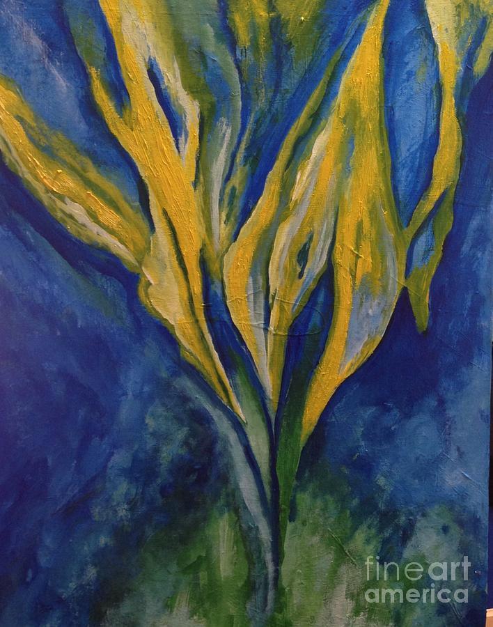 Rassouli Painting - Yellow Crystal Star by Bebe Brookman