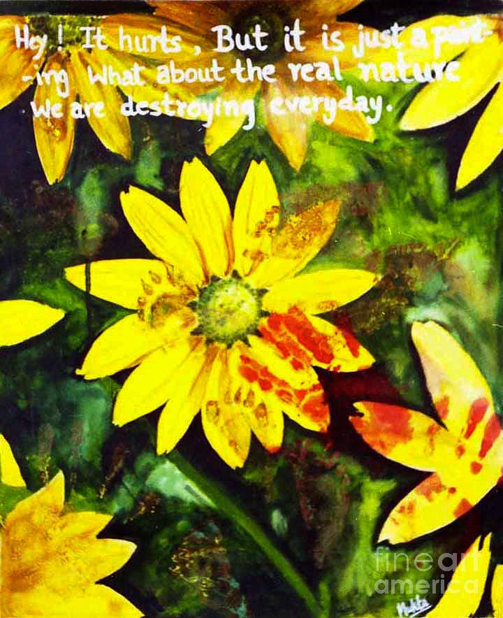 Flowers Painting - Yellow Daisies by Mukta Gupta