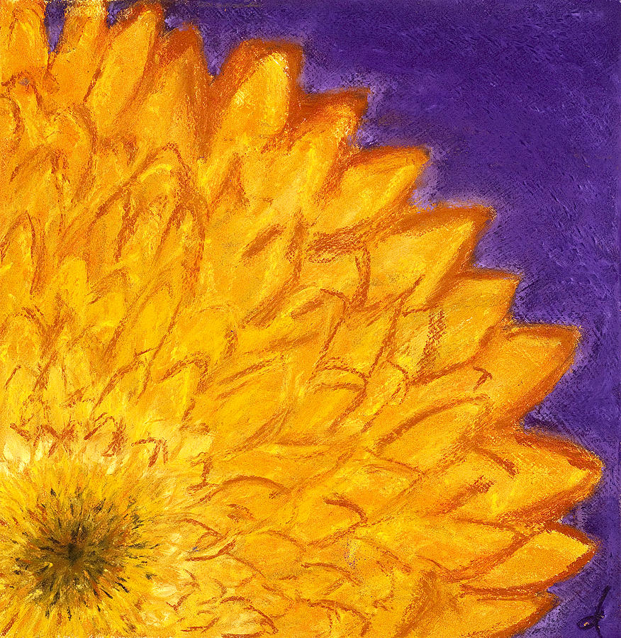 Flower Painting - Yellow Daisy by Dana Strotheide