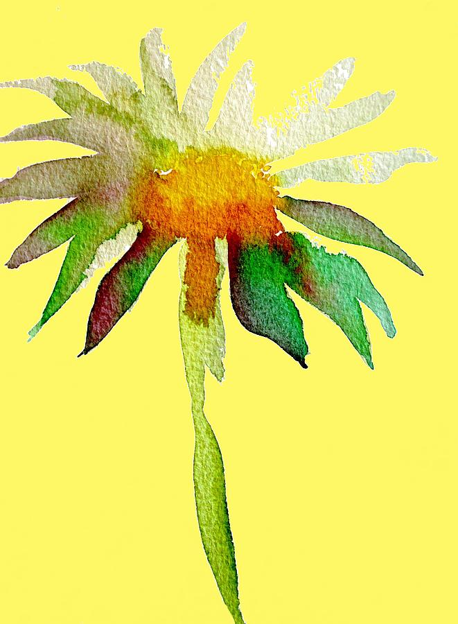 Daisy Painting - Yellow Daisy by Sacha Grossel