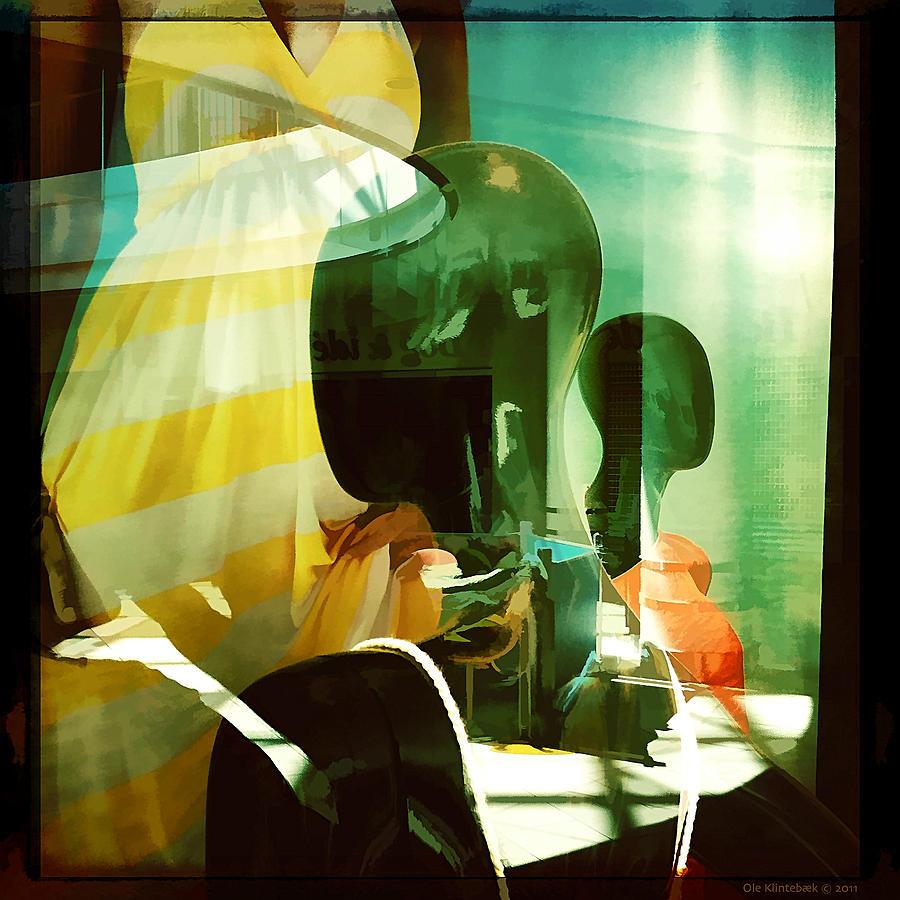 Black Dolls Photograph - Yellow Dress And Some Heads by Ole Klintebaek
