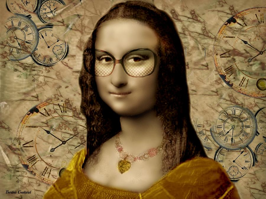 Mona Lisa Painting - Yellow Dress by Barbie Guitard