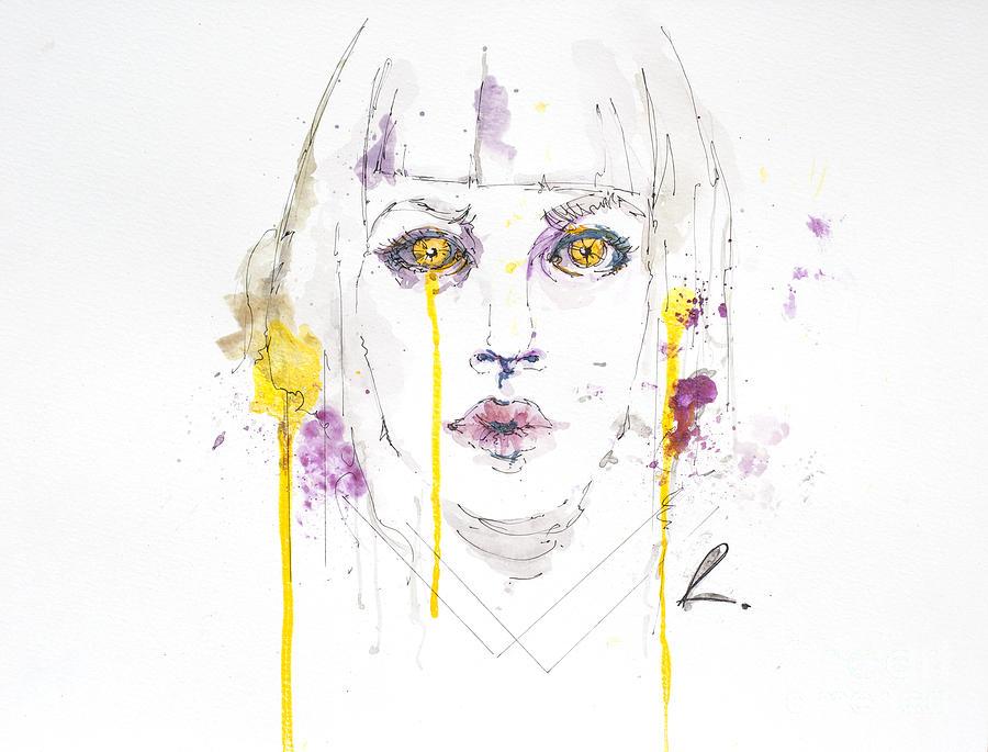 Abstract Mixed Media - Yellow by Edgar Rafael
