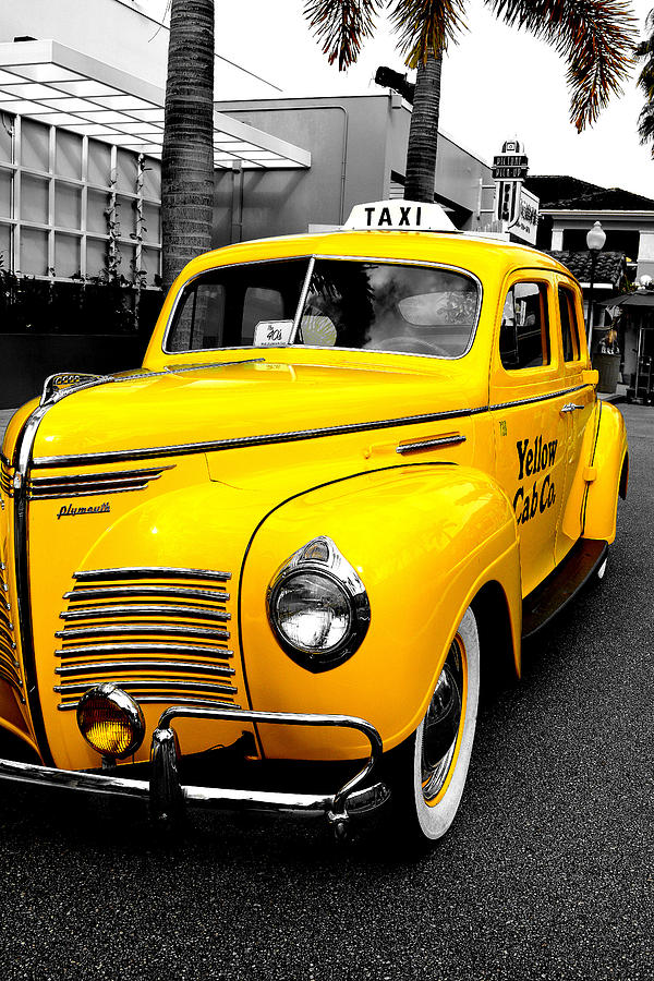 Taxi Photograph - Yellow Fare by Tim Wintjen