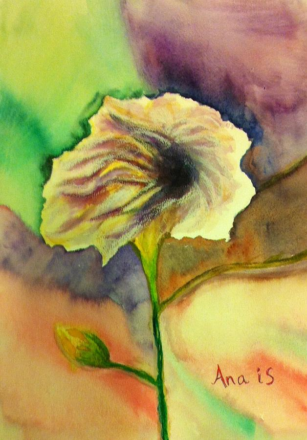 Yellow Flower Painting by Anais DelaVega