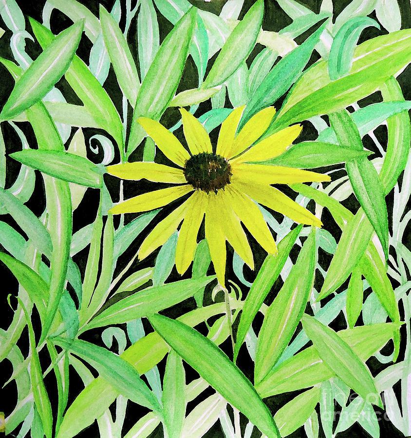 Yellow Daisy Flower Painting - Yellow Flower by Anjali Vaidya