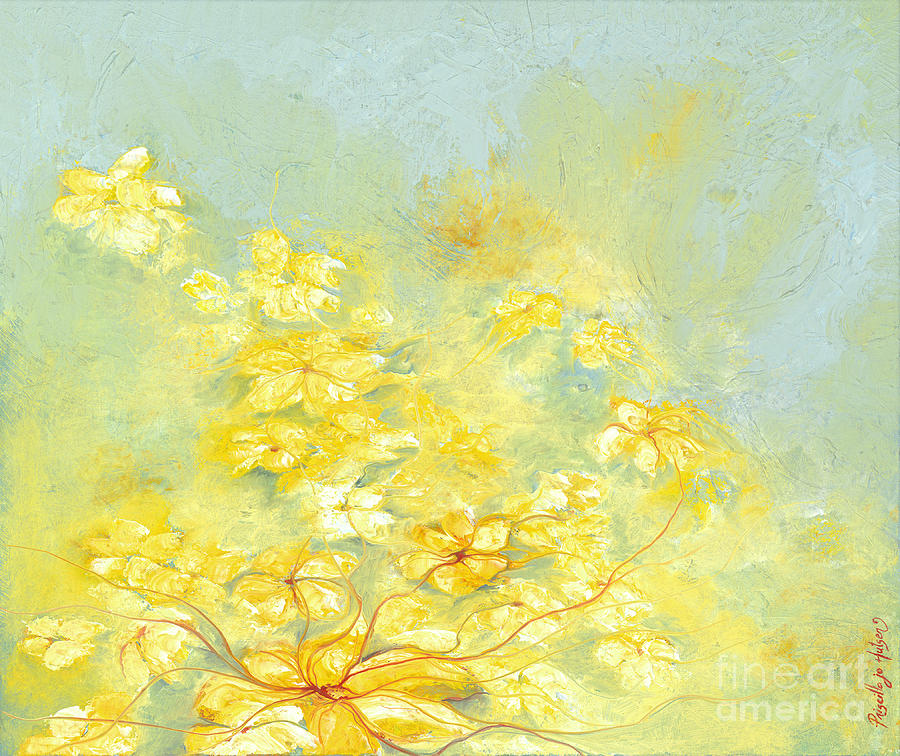 Yellow Daisies Painting - Yellow Flowers by Priscilla  Jo