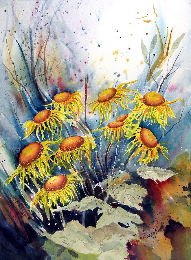 Flower Painting - Yellow Flowers by Sam Sidders