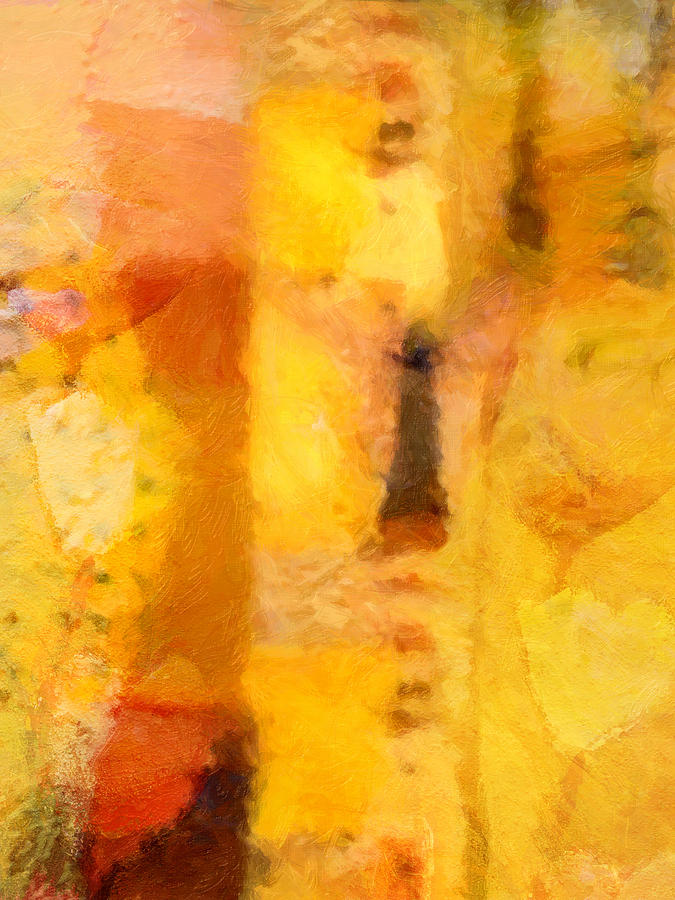 Abstract Painting - Yellow Garden by Lutz Baar