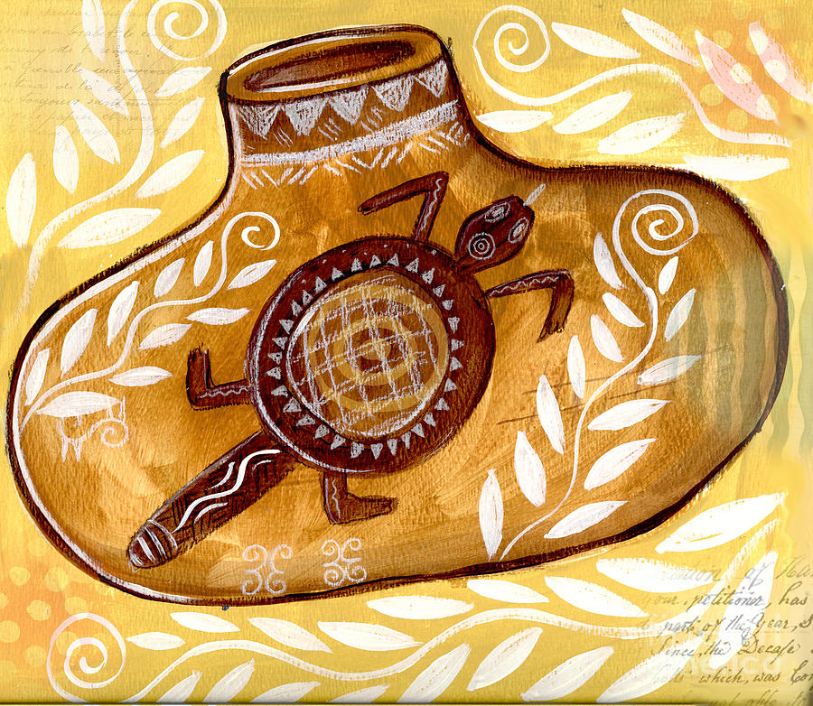 Collage Mixed Media - Yellow Gourd by Elaine Jackson