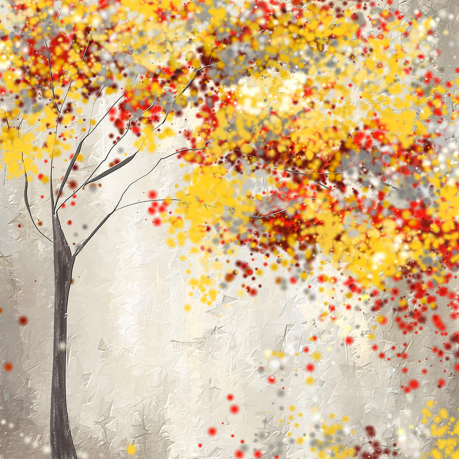 Yellow gray and red painting by lourry legarde Bright yellow wall paint