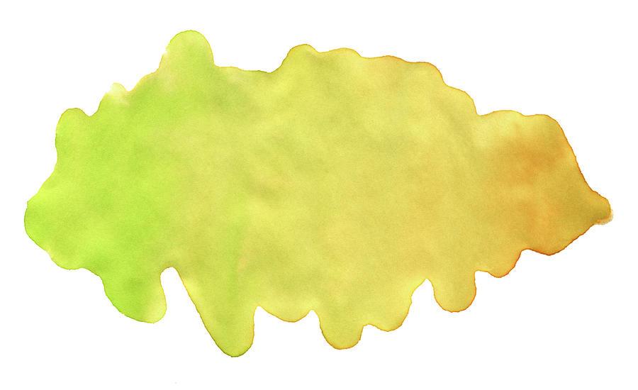 Yellow Green Watercolor Paint Texture Digital Art by 4khz