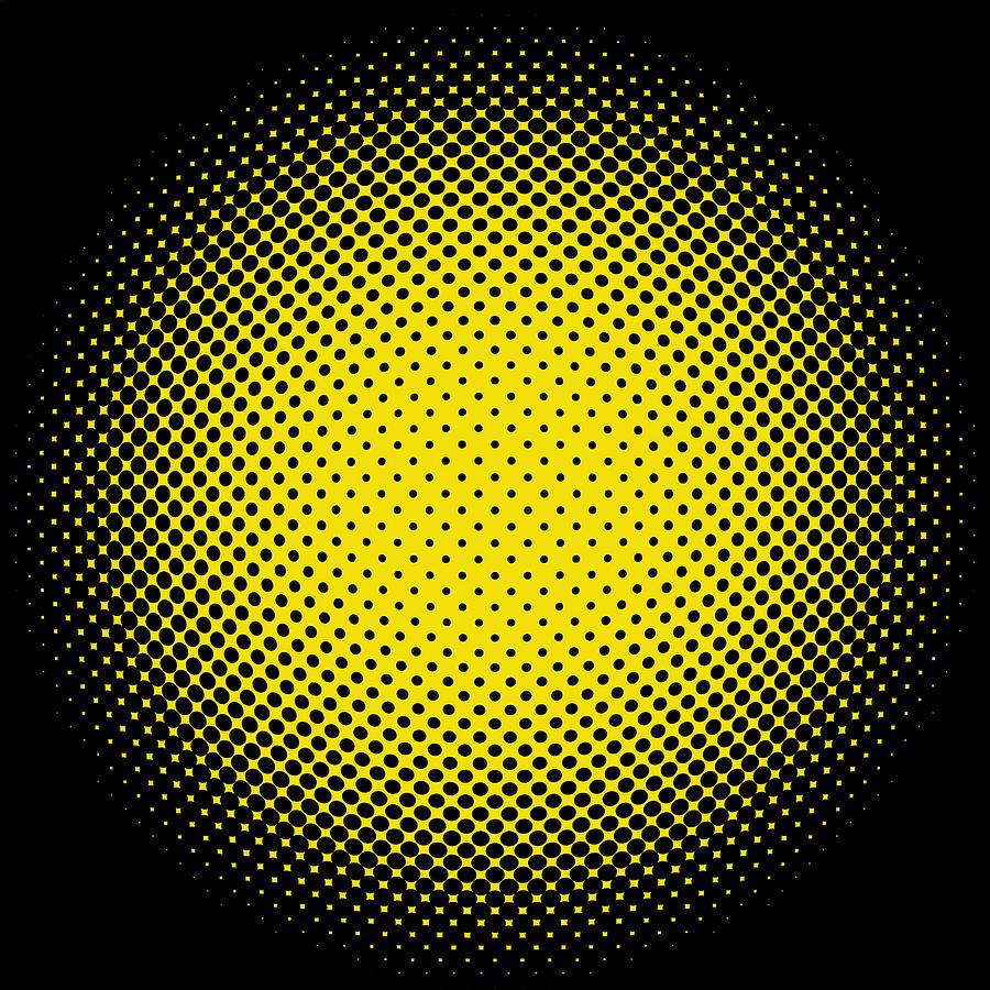 Optical Illusion - Yellow On Black Digital Art by Paulette B Wright