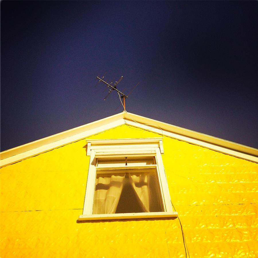 Yellow Photograph - Yellow House In Akureyri Iceland by Matthias Hauser