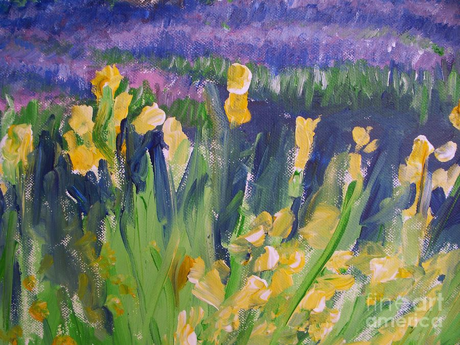 Provence Painting - Yellow Iris by Eric  Schiabor