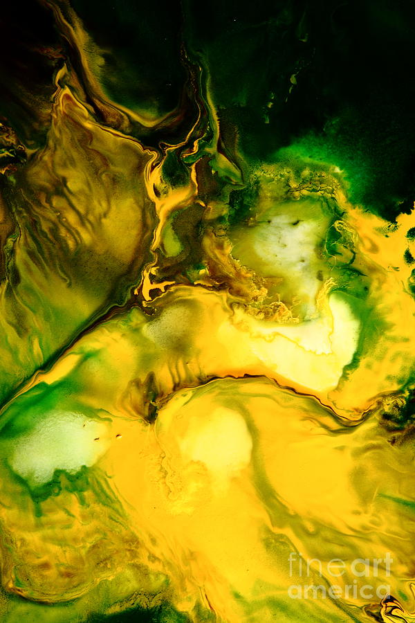 Yellow Painting - Yellow Jacket Abstract Art by Serg Wiaderny