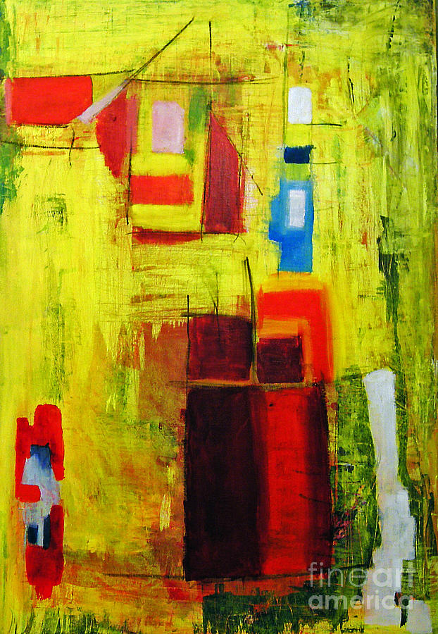 Abstract Painting Painting - Yellow  by Jeff Barrett